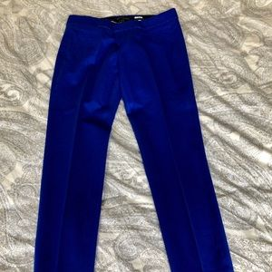 Cobalt blue BR cropped work pants